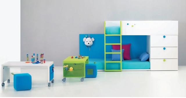 Dormitorios compartidos minimalistas 2