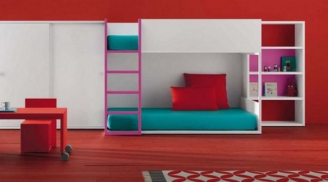 Dormitorios compartidos minimalistas 3