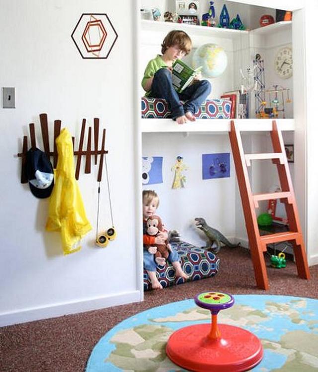 Dormitorios infantiles compartidos modernos 2