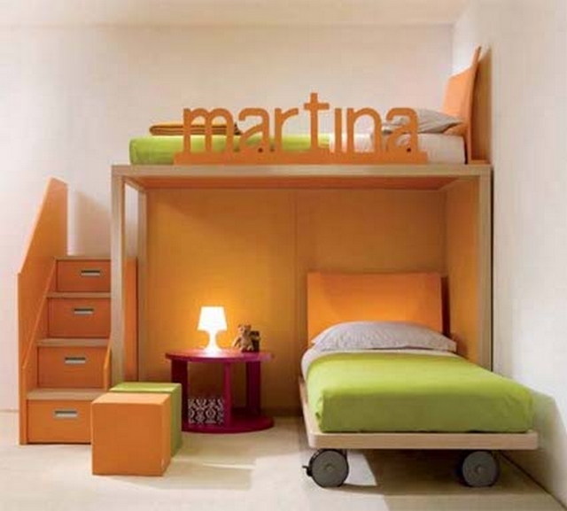Dormitorios infantiles compartidos modernos 3