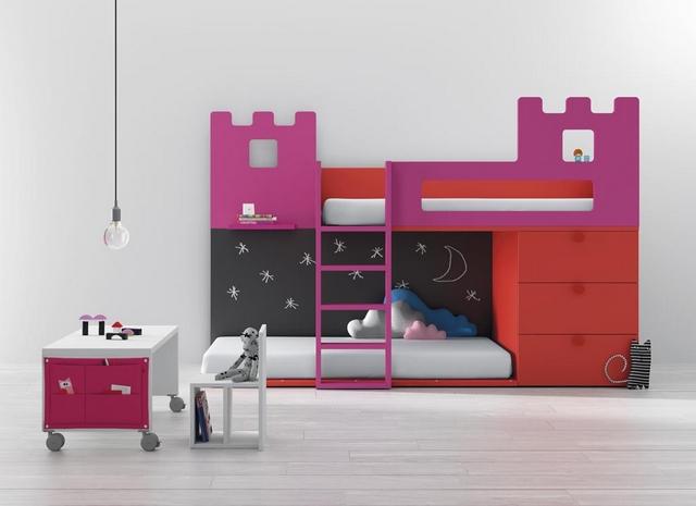 Dormitorios infantiles compartidos modernos 4