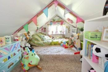 Idea de dormitorio infantil en altillo