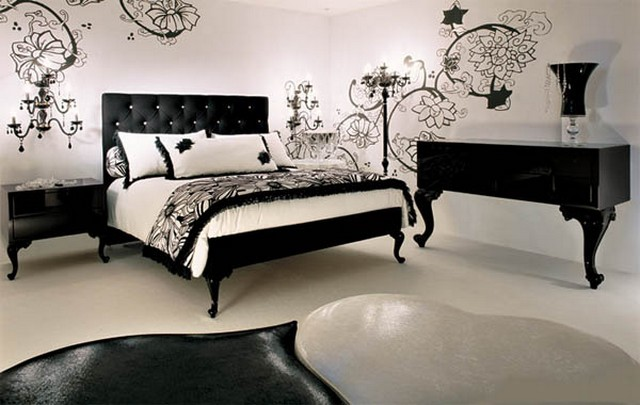 Ideas para decorar dormitorios blanco y negro