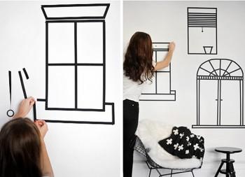 Ideas para decorar paredes con Washi Tape 1