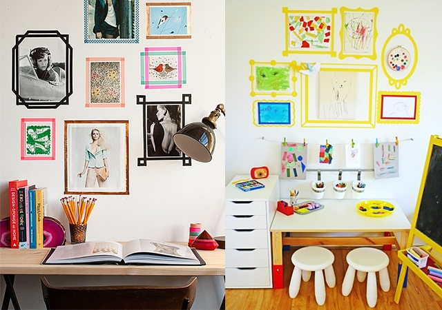 Ideas para decorar paredes con washi tape - Ideas para decorar una pared con fotos ...