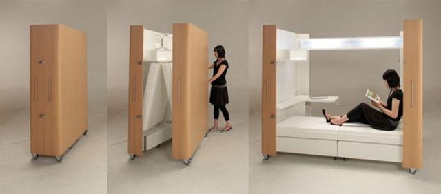 Ideas practicas para camas en dormitorios pequeños 2
