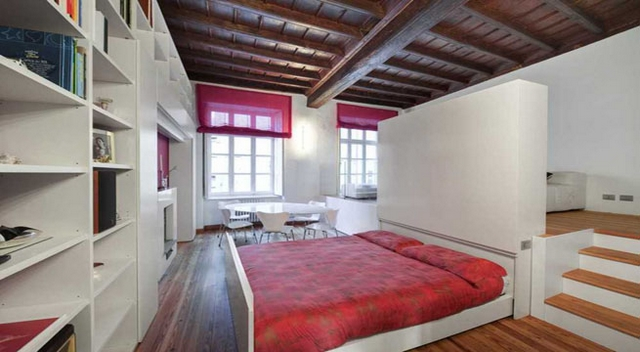 Ideas practicas para camas en dormitorios pequeños 4