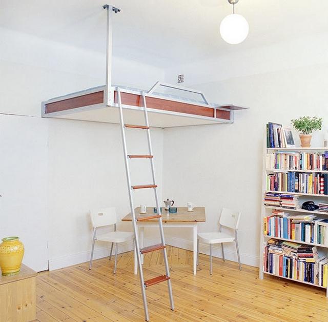 Ideas practicas para camas en dormitorios pequeños 5