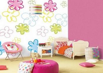 Papeles de pared infantil con dise o de dibujos a l piz - Decoracion en paredes para ninos ...