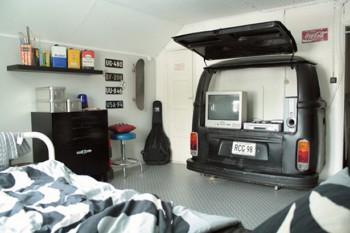 Un dormitorio para hombre muy original