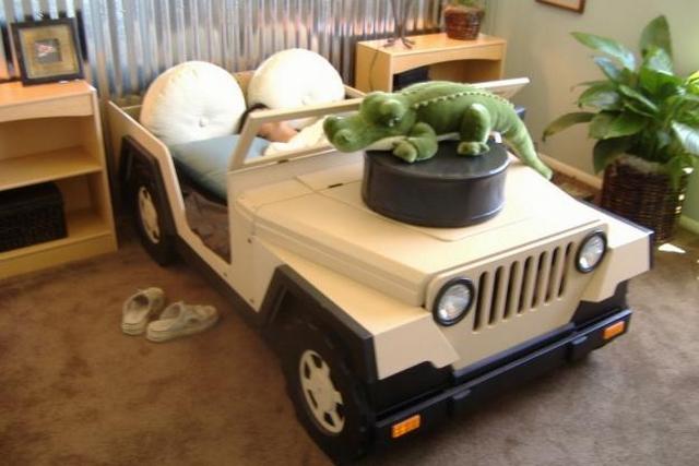 Cama Jeep para niños 3