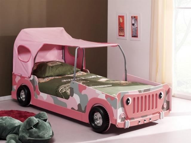 Cama Jeep para niños 4