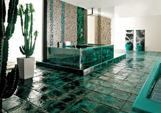 Decoracion de baño con cactus 2