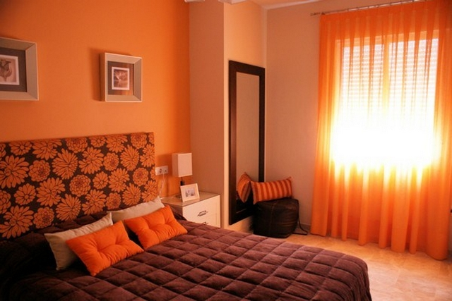 Decoracin de dormitorios anaranjados