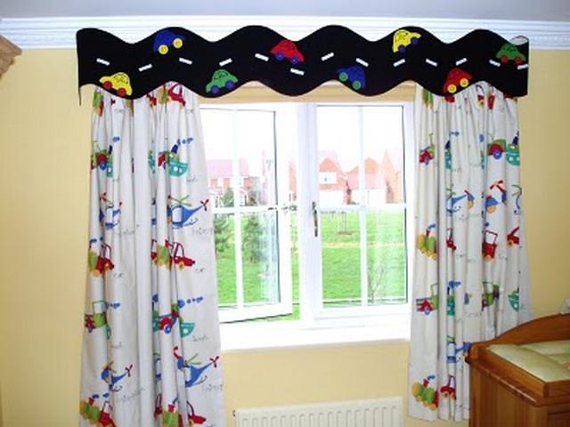 Decoraci n de dormitorios infantiles con cortinas for Ideas para cortinas infantiles