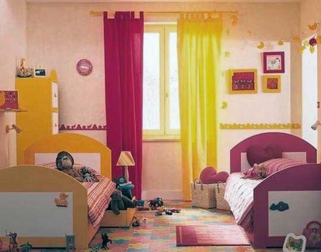 Decoracion de dormitorios infantiles con cortinas 3
