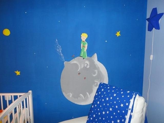 Decoracion dormitorio infantil tematica El Principito 2