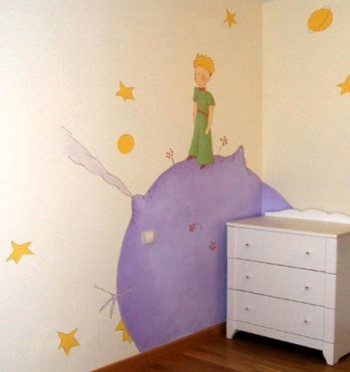 Decoracion dormitorio infantil tematica El Principito