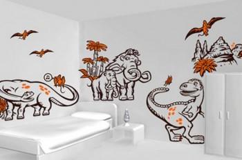 Decoracion dormitorio infantil tematica dinosaurio