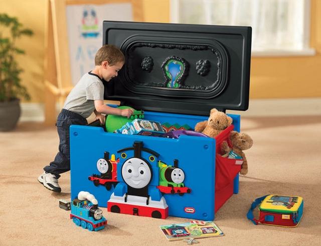 Decoracion dormitorio infantil tematica tren Thomas & Friend 2