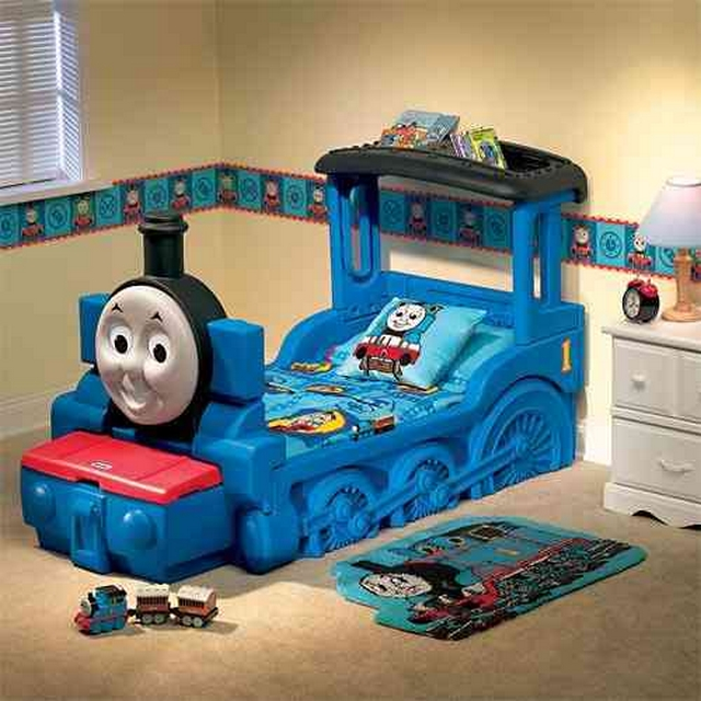 Decoración dormitorio infantil temática tren Thomas & Friends