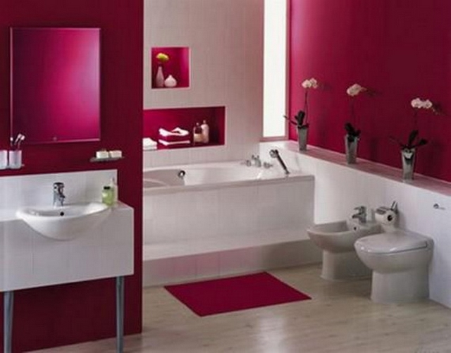 Decorar baño de color fucsia 2