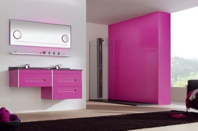 Decorar baño de color fucsia 3