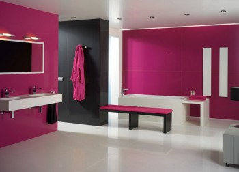 Decorar baño de color fucsia