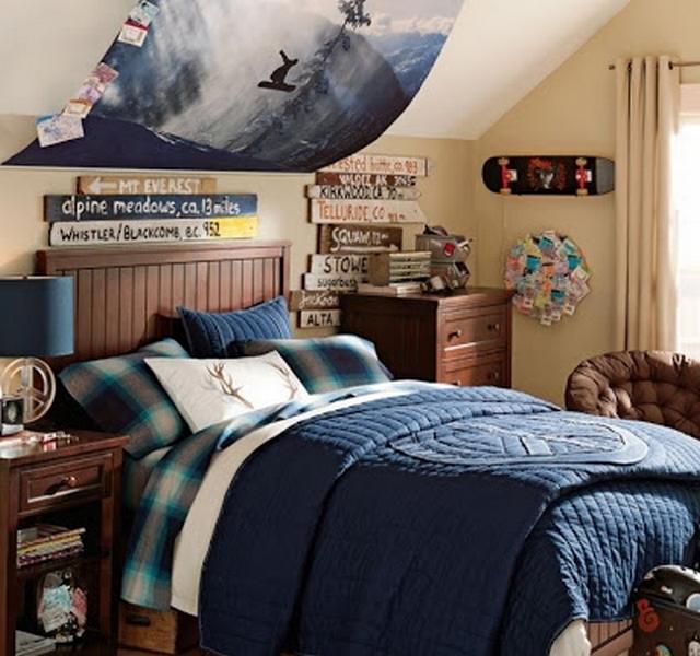Dormitorio juvenil tematica snowboarding 1