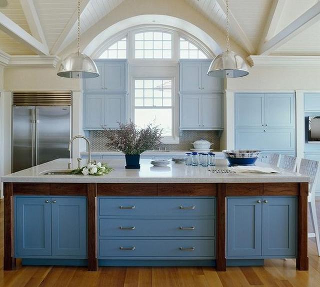 Mueble de cocina color azul 3