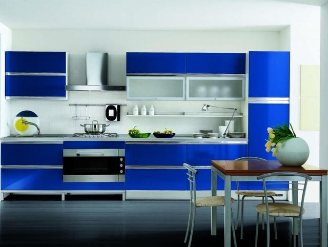 Mueble de cocina color azul 4