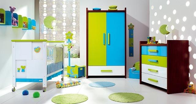 Muebles cajoneros de colores para las habitaciones infantiles - Colores para habitaciones de bebe ...