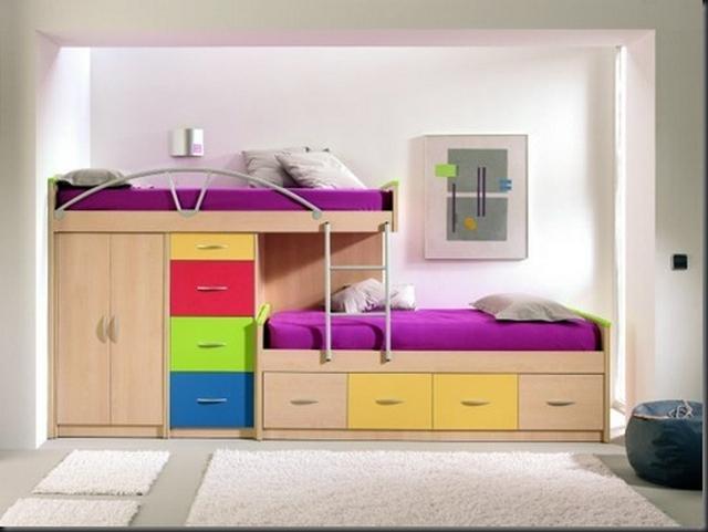 Muebles cajoneros de colores para las habitaciones infantiles - Muebles modernos para habitaciones ...