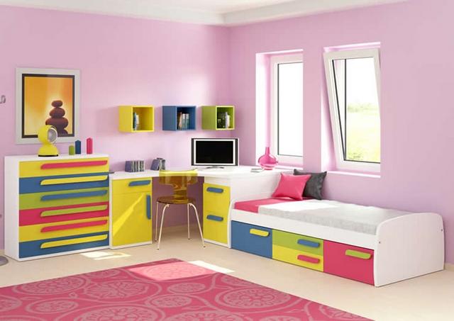 Muebles cajoneros de colores para las habitaciones infantiles - El mueble habitaciones infantiles ...