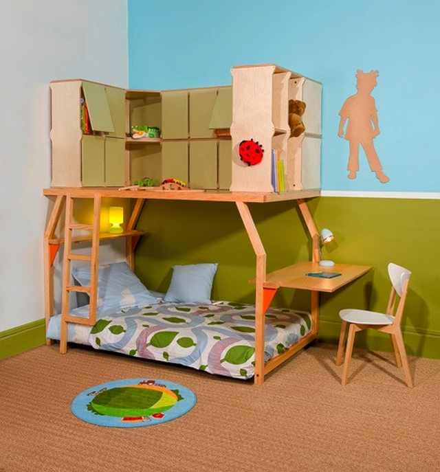 Popspace camas que se adaptan al crecimiento del ni o for Reverse loft bed