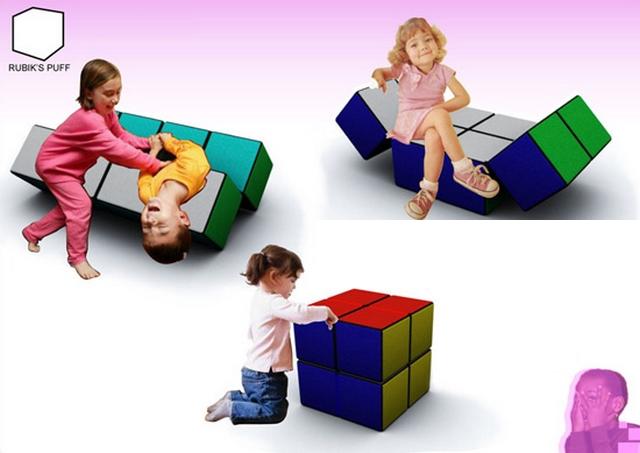 Rubik's Puff, un asiento infantil original y creativo 2
