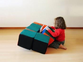 Rubik's Puff, un asiento infantil original y creativo