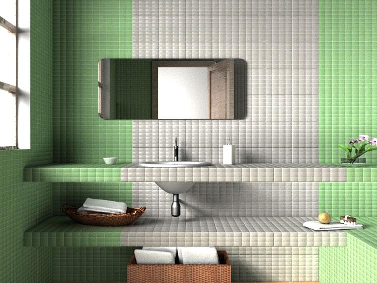Azulejos lo mejor en la decoraci n de ba os - Azulejos rectangulares ...