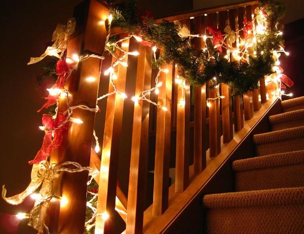 Cómo decorar las escaleras en navidad..