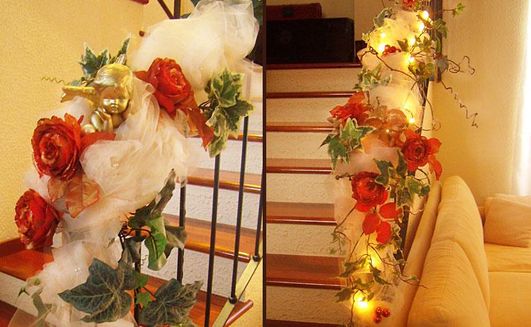 C mo decorar las escaleras en navidad for Decorar escaleras con fotos