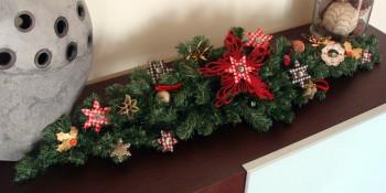 Decoración con guirnaldas de navidad