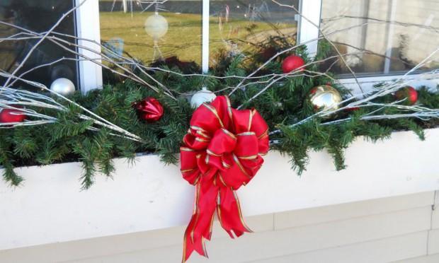Decoración con guirnaldas de navidad.