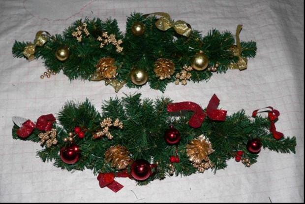 Decoración con guirnaldas de navidad..