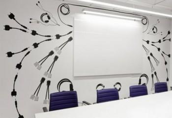 Decoraciones creativas para la pizarra de la oficina