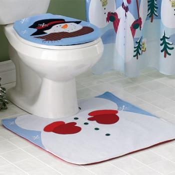 Decorando el baño en navidad