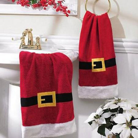 Decorando el baño en navidad..
