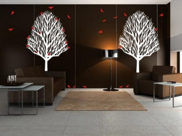 Decorando las paredes trucos para decorar las paredes - Decoracion paredes vinilos adhesivos ...