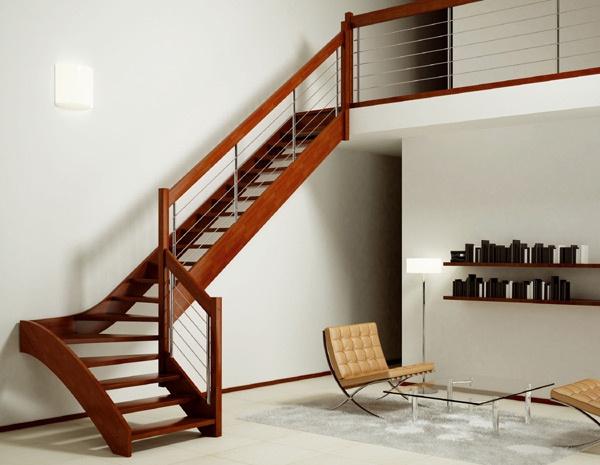 Los mejores dise os de escaleras para la casa for Escaleras modernas para espacios pequenos