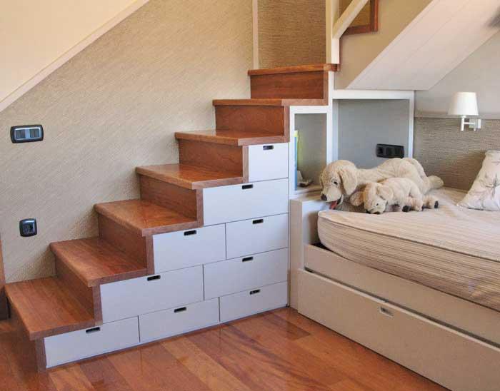 Los mejores dise os de escaleras para la casa - Puertas internas de madera ...