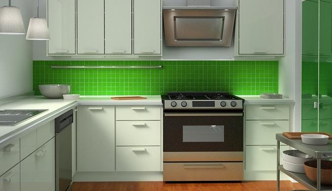 Tendencias & Espacios: El color verde en la cocina
